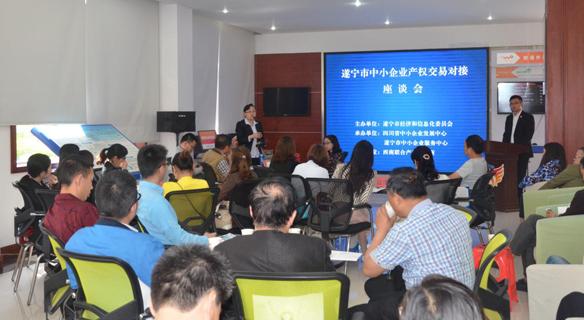 西南联交所举办遂宁市中小企业产权交易对接座谈会